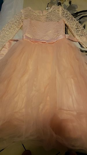 Pink flower girl dress new size 6-8 for Sale in Bell Gardens, CA
