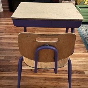 Desk old school classroom w/ attached chair for Sale in Seattle, WA