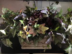 Artificial Decorative Plant with Purple Flowers and Ornate Vase $25 for Sale in Las Vegas, NV