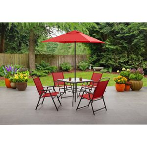 Mainstays Albany Lane 6 Piece Outdoor Patio Dining Set, Multiple Colors for Sale in Houston, TX