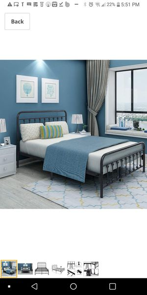 Full Size Metal Bed Frame Platform with Headboard and Footboard $120 for Sale in Columbus, OH