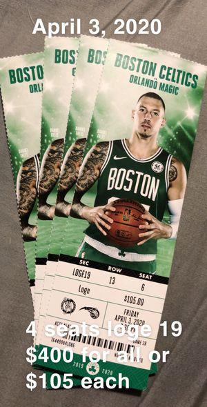 Celtics vs magics for Sale in Boston, MA
