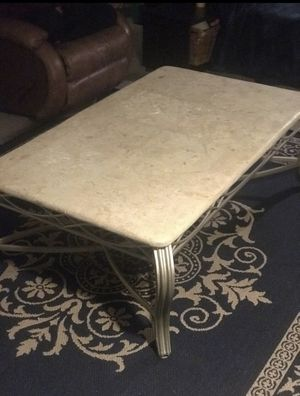 Stone and Steel coffee table for Sale in San Diego, CA