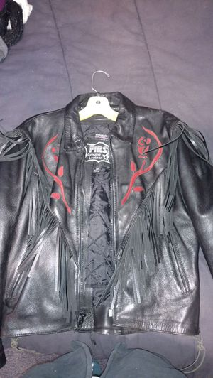 Fringe Woman's leather motorcycle jacket for Sale in Douglas, MA