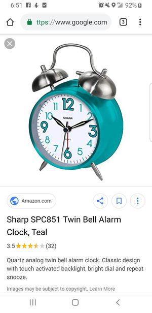 Teal alarm clock for Sale in Houston, TX