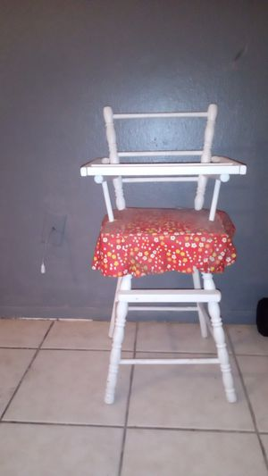 Antique high chair wood for Sale in Houston, TX