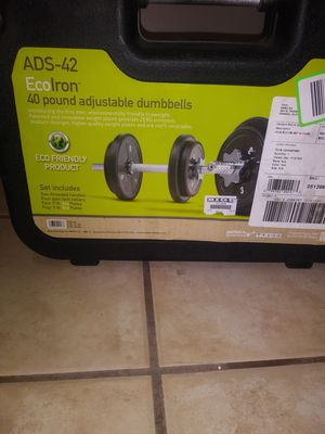 Ecoiron 40lbs adjustable dumbbells for Sale in Lehi, UT