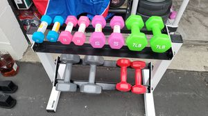 Set of 12 dumbbells and rack for Sale in Rowland Heights, CA