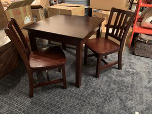 Land of Nod Wood Kids Table + 2 Chairs for Sale in Plantation, FL