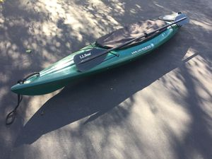 Wilderness Systems Pungo 120 Kayak with LL Bean paddle and a cockpit cover. Repaired small crack. $375 for Sale in Somerville, NJ
