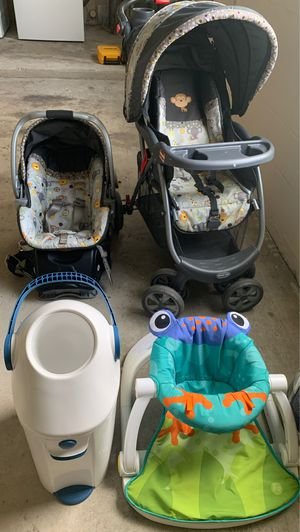 Car seat stroller baby Stan toy diapers can for Sale in Dunnellon, FL