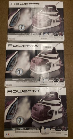 Rowenta DG8520 Perfect Steam 1800-Watt Eco Energy Steam Iron Station Stainless Steel Soleplate, 400-Hole, Purple for Sale in North Las Vegas, NV