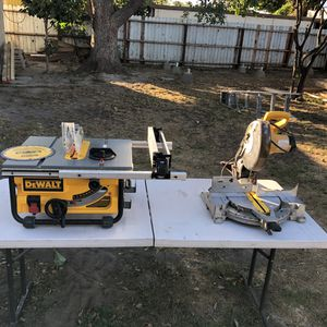 Dewalt DWE7480 10 inch Table Saw and Compound Saw 10 inch for Sale in Santa Ana, CA