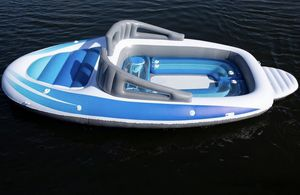 Inflatable Replica Boat Big Enough for 6 Adults - Perfect for Camping and Floating Huge Float Lake for Sale in Gaithersburg, MD