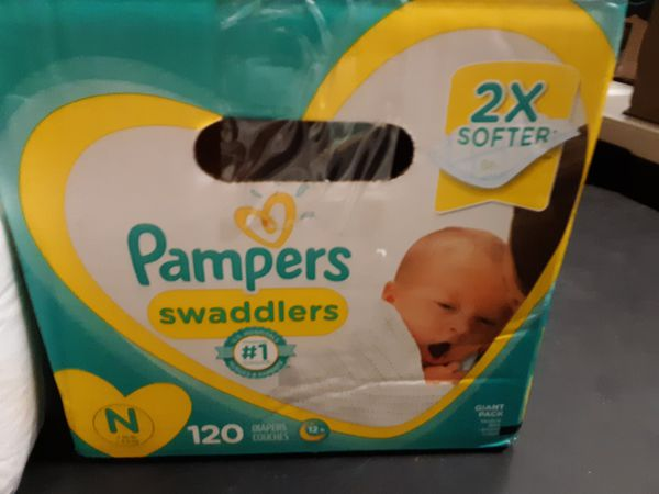 Pampers Swaddlers NB Over 200 Diapers