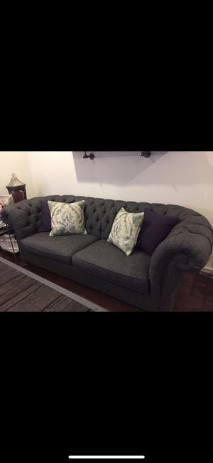 Tufted loveseat and arm chair for Sale in Baltimore, MD