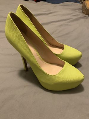 Qupid Neon Yellow Stiletto size 10 for Sale in San Diego, CA