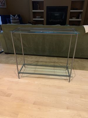Glass and Steel Sofa or Side Table for Sale in Portland, OR