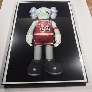 Chicago Bulls Jordan Jersey Kaws Print Only No Frame for Sale in Santa Monica, CA