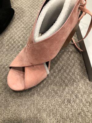 Rebecca Minkoff pink side suede wedge for Sale in Aldie, VA
