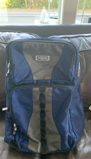 Jansport large Europack backpack. Moderate use, measures 20 by 13 by 10 inches. One large front pocket and one small front pocket. When open contain for Sale in Mercer Island, WA
