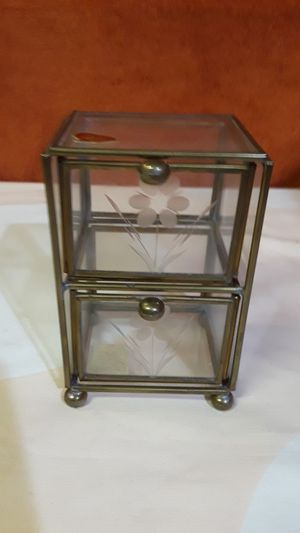 Antique Glass Jewelry Container for Sale in Cedar Hill, MO
