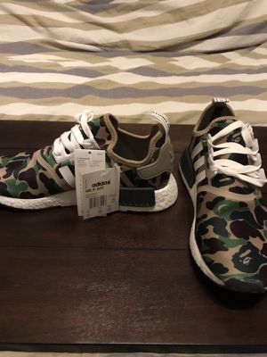 Adidas NMD R1 Bape Olive Camo for Sale in San Marcos, TX