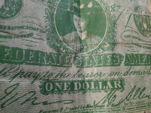 Old old Confederate one dollar bill made in 1864 printed in Richmond VA. for Sale in Durham, NC