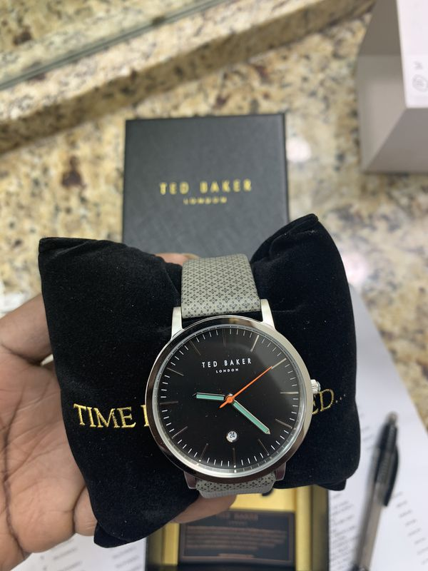 Ted Baker Men's TE50624001 Stainless Steel Leather Band Watch