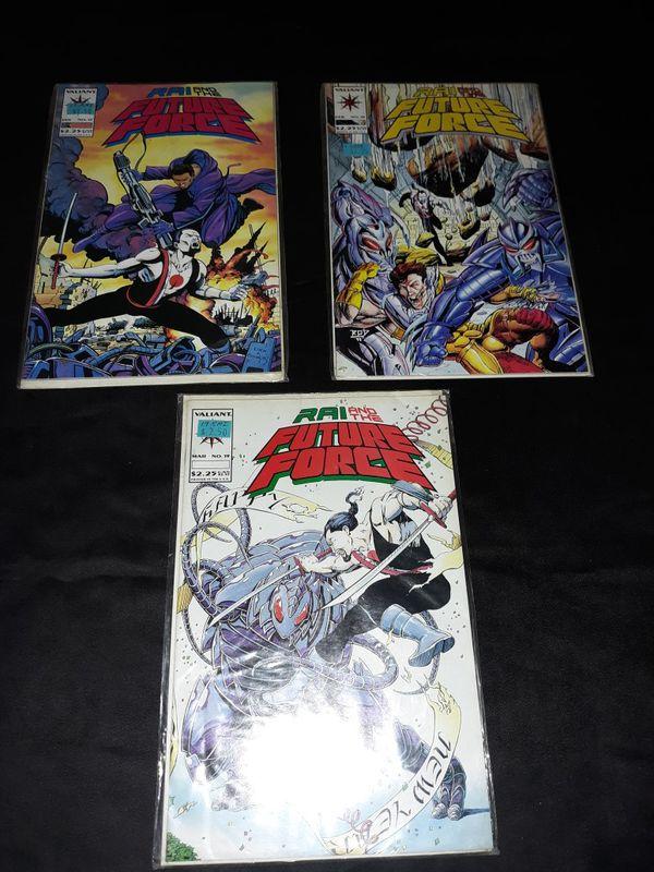 Lot Of 3 - RAI and the Future Force - lot #'s 17-19 Valiant comics Books