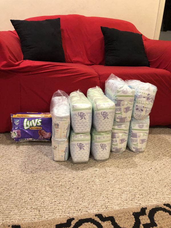 300 Diapers (various sizes)