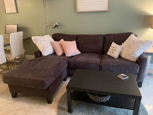 2pc Microfiber sectional couch for Sale in Fort Lauderdale, FL
