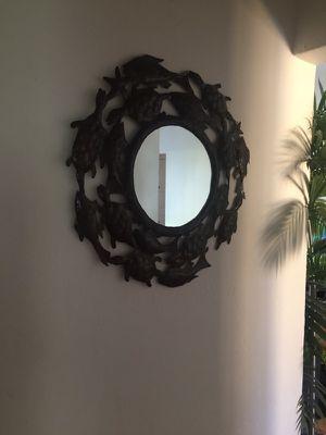 Sea turtle mirror dark brown/blackish metal for Sale in Fort Lauderdale, FL