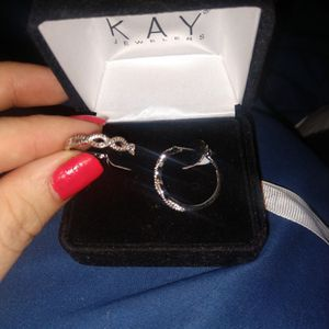 Kay Jewelers White Gold Diamond Earrings for Sale in Loudon, NH