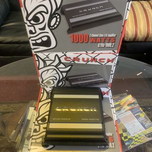 Crunch Car Audio . Car Stereo Amplifier . 1000 watts . 2 Channel . New Years Super Sale $59 While They Last . New for Sale in Mesa, AZ