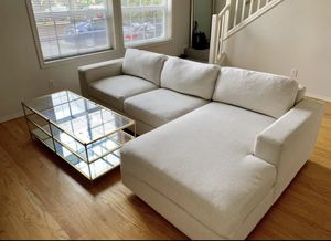 West Elm Two Piece Sectional Couch w/ Chaise for Sale in Portland, OR