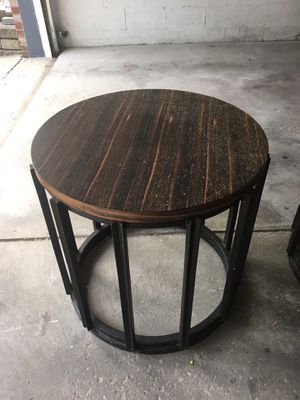 Buy 1 get 1 free large round end table for Sale in Bridgeville, PA