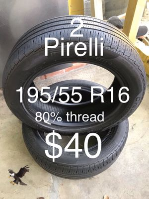 2 Pirelli tires 195/55 R16 for Sale in San Leandro, CA