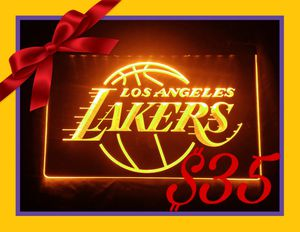🏀NEW 3D LA LAKERS LED SIGN🏀MAN CAVE. BAR. NIGHT LIGHT🏀 for Sale in Ontario, CA