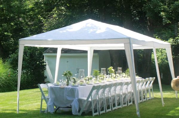 10 ft x 20 ft Pop Up Gazebo Canopy Wedding Party Tent for Out Door Events and Activities