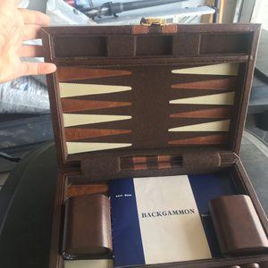 Classic Board Game Backgammon Set Brown Wooden Portable for Sale in Tamarac, FL