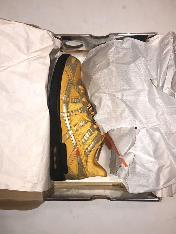 Nike Dunk Low x Off White 'University Gold' Size 9