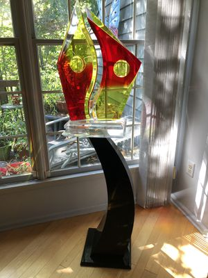 Contemporary Art Sculpture w/Stand for Sale in Princeton, NJ