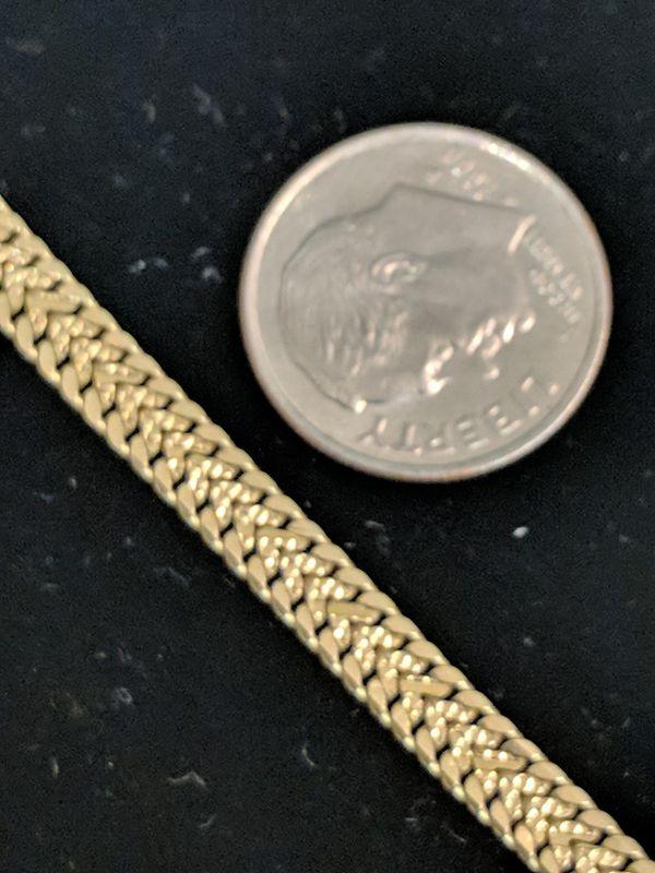14K GOLD BRACELET 8 inch
