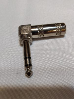 """Nickel Stereo 1/4"""" Aux 90 degree elbow wire connector for Sale in Molalla, OR"""