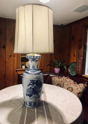 Floral Blue & White Porcelain Lamp for Sale in Richmond, VA