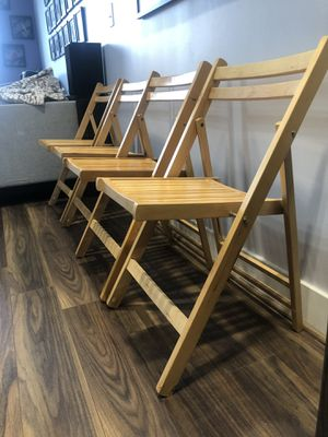 Wooden Folding Chairs for Sale in Washington, DC