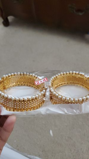 Gold plated Indian pearl bangles for Sale in Roswell, GA