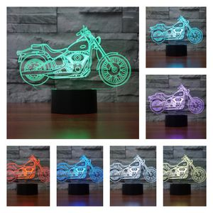 3D night light- 7 color changing light, lamp, night stand- motorcycle, Harley Davidson for Sale in Orlando, FL
