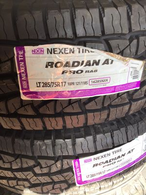 LT285/75R17 Nexen AT Pro. New tires on sale easy financing for Sale in San Diego, CA